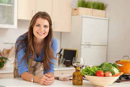 woman-preparing-dinner-clean-kitchen-448