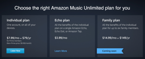 Amazon Music Unlimited 料金表